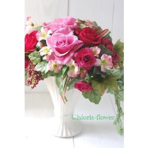 開店祝い 花 ギフト プリザーブドフラワー 可愛いいホリゾンアレンジ ピンクの薔薇プリティーA |chloris-flower