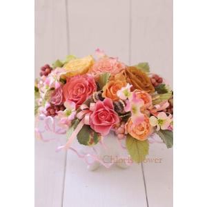開店祝い テーブルアレンジ プリザーブドフラワー 薔薇のキャンディアレンジ|chloris-flower