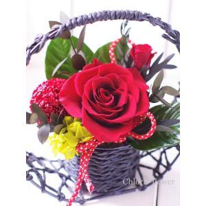 プリザーブドフラワー 和風 赤 卑弥呼B chloris-flower