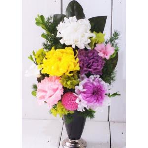お供え花 仏花 プリザーブドフラワーギフト 菊3輪入り chloris-flower