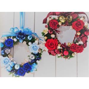 クリスマスリース 2色 プリザーブドフラワーリース|chloris-flower