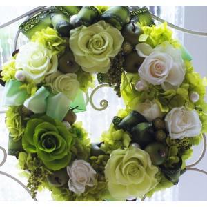 リース プリザーブドフラワーリース フレッシュグリーン ケース入り|chloris-flower