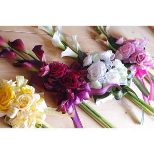 カラー花束 選べる4色  ホワイトデー 贈答花 プリザーブドフワラー&アーティーフィシャル|chloris-flower