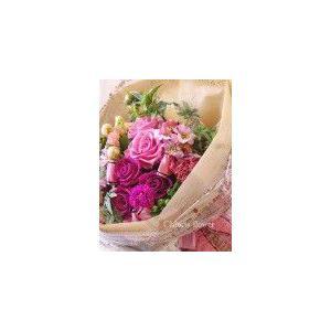 お祝い花束 贈答用花束 誕生日プレゼント プリザーブドフラワー花束 色が選べるおまかせ花束 |chloris-flower
