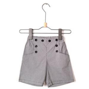 デザインストレッチパンツ 5分丈 子供服 キッズ パンツ 半ズボン  千鳥格子 格好良い キッズ 男の子 ライン柄 chobobubu