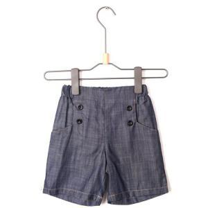 デザインストレッチパンツ 5分丈 子供服 キッズ パンツ 半ズボン ボトムス デニム生地キッズ 男の子  chobobubu