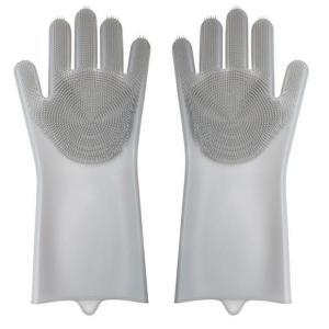 【送料無料】キッチン手袋 ゴム手袋 シリコングローブ キッチングローブ 泡立ちやすい シリコンブラシつき 滑り止め 収納便利 オプションでニ双目1000円|chobobubu