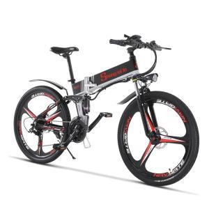 電動アシスト折り畳み自転車 26インチ 21段変速 350w*12.8ahリチウムバッテリー 2色選択可能 キャストホイール(一体型) オプションでリアバックを|chobobubu