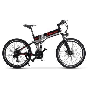 電動アシスト折り畳み自転車 26インチ 21段変速 500w*12.8ahリチウムバッテリー フル電動アシスト自転車 2色選択可能|chobobubu
