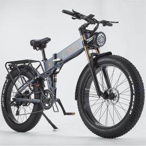 ファットバイク 電動アシスト自転車 マウンテンバイク1000W 48V12.8An FATBIKE迫力の極太タイヤ スノーホイール 折り畳み26×4.0太いタイヤ|chobobubu