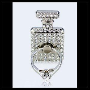 スマホリング 香水瓶甘そう!スマリング! 指1本でiPhoneやスマホ等をしっかりホールドでき、大切なスマホが落下防止