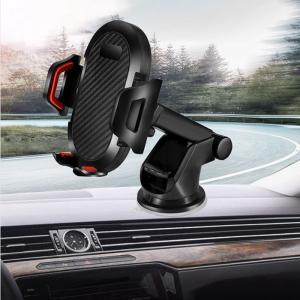 新型伸縮機能付き車載ホルダー スマートフォン スマホ スタンド オフィス用スタンド 固定 吸盤式で簡単取り付け グレードアップ【送料無料】|chobobubu