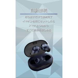 n|a 完全ワイヤレスイヤホン D45 TWS Bluetooth5  小型超軽量4.5g  高感度アンテナ マイク内蔵 ハンズフリーステレオ通話 自動再接続|chobt|15