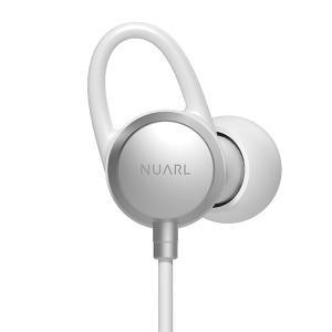 NUARL(ヌアール) NB20C Bluetooth(ブルートゥース)/IPX6耐水/6h連続再生/リモコンマイク/小型軽量ワイヤレスステレオイヤホン(マットシルバー)|chobt