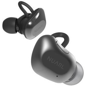 NUARL(ヌアール) NT01 Bluetooth(ブルートゥース)/完全ワイヤレス/IPX4耐水/5h再生/マイク付/軽量5g/左右独立ステレオイヤホン(ブラックシルバー)|chobt