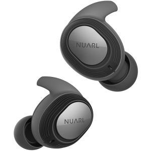 NUARL(ヌアール) 完全ワイヤレスイヤホン 完全防水IPX7(水洗い可能) 連続4時間再生(最大28時間再生) Bluetooth5.0 軽量4g NT100-BK(ブラック)|chobt
