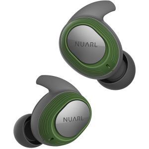 NUARL(ヌアール) 完全ワイヤレスイヤホン 完全防水IPX7(水洗い可能) 連続4時間再生(最大28時間再生) Bluetooth5.0 軽量4g NT100-GN(グリーン)|chobt