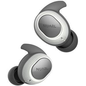 NUARL(ヌアール) 完全ワイヤレスイヤホン 完全防水IPX7(水洗い可能) 連続4時間再生(最大28時間再生) Bluetooth5.0 軽量4g NT100-WH(ホワイト)|chobt
