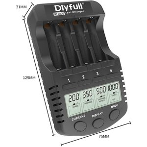 急速充電器 充電池用 ニッケル水素電池 ニッカド電池 Ni-MH Ni-CD 単3/単4形 急速充電 放電 リフレッシュ DLYFULL NT1000 送料無料|chobt|04