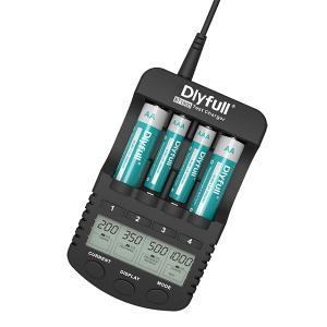 急速充電器 充電池用 ニッケル水素電池 ニッカド電池 Ni-MH Ni-CD 単3/単4形 急速充電 放電 リフレッシュ DLYFULL NT1000 送料無料|chobt|07