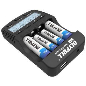 【送料無料】急速充電器 充電池用 DLYFULL T1 Ni-Cd/Ni-MH 単三(AA)/単四(AAA) 充電池の充電 急速充電 放電 リフレッシュ chobt 03