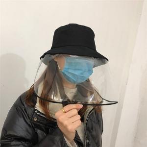 ウイルス 対策 ウイルスシャットアウト 帽子 レディース ハット 花粉対策 透明マスク 新型コロナウ...