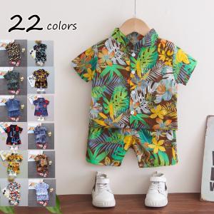 キッズ アロハシャツ Tシャツ 短パンツ 2点セット 夏 半袖 男の子 女の子 子ども服  韓国子供...