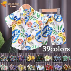 キッズ アロハシャツ Tシャツ 短パンツ 2点セット 夏 半袖 男の子 女の子 ジャージ 子キッズ ...