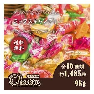 送料無料 ミックス キャンディ 1kg ×9袋セット 業務用 徳用 大容量 個包装 イベント 子供会 販促 レジ前 飴 キャラメル chocoru