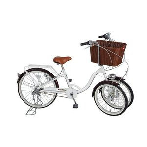 MG-CH243B 三輪自転車バンビーナ ミムゴ Bambina バスケット付き三輪自転車 大人用三輪自転車 三輪車 BAAマーク 前二輪自転車|choice-ippinkan