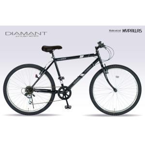 マウンテンバイク(MTB)26インチ マイパラス M-610S-BK ブラック(My Pallas/MTB26/シマノ製6段変速機付/6段ギア/6SP/自転車/M610SBK)|choice-ippinkan