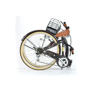 折りたたみ自転車26インチ マイパラス M-506-IV アイボリー(My Pallas/折畳タウンサイクル/折畳レディサイクル/6段変速/6SP/折畳み自転車/折畳自転車/M506IV)|choice-ippinkan|02