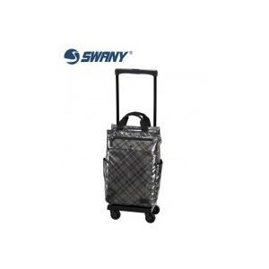 SWANY スワニー ウォーキングバッグ D-233 タルタン シルバーチェック L21 18L・23300|choiceippinkanselect