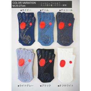 ゴルフのための滑らない五本指ソックス(ガッツマン)(VAMONOS)(当社製品) chokucobin 02