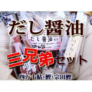 だし醤油3兄弟セット 四万十の焼鮎・鰹節・宗田節 各1個 まとめ買い用お得セット 高知産|chokuhan