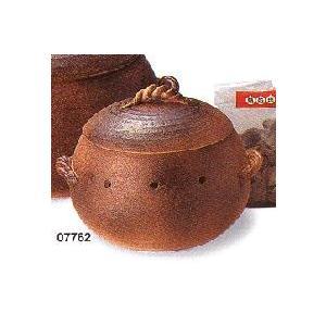 ★石焼き芋器 窯変石焼つぼ アメ釉(小サイズ) 萬古焼 石付き★国産陶器の焼き芋器です!07762|chokuhan