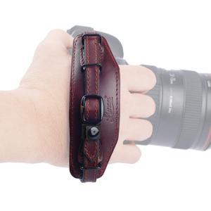 一眼レフカメラ用本革グリップベルト/一眼レフカメラ用レザーハ...
