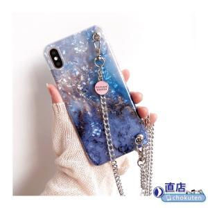 iPhone 11 Pro Max/iPhone X/XS Max iPhone8 Plus iPhone7 Plus用斜め掛けスマホケース ショルダー 大理石柄ストラップケース/カバー/女性に向け専用ストラップ|chokuten-shop