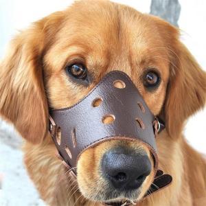 中型犬?小型犬 無駄吠え防止グッズ/お散歩 訓練 練習 トレーニング PU革製 口輪/しつけ用品 犬用品 ペット用品 ペットグッズ/マナーマスク くちばし