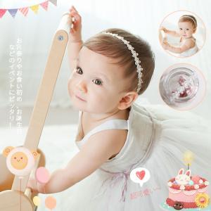 新生児で使用可能な、柔らかなヘアバンドに/ヘアアクセサリー ドレス パールレース ヘアバンド/赤ちゃん ヘアバンド ベビー 髪飾り/新生児髪飾り/撮影小物の画像