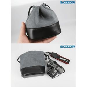 質感Sony 6300/6000/A5100/A5000/NEX6/5用Canon EOS M10/M3/M2用Nikon J1/J2/J3/J4/J5/V1/V2/V3用カメラ保護ケース PUレザーカバー/収納レザーポーチ/バッグ|chokuten-shop