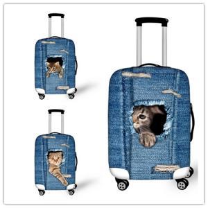旅行用品 スーツケースカバー 個性的 3D犬 Dog 猫 C...