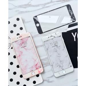 iPhone8Plus/7Plus iPhone8/7 iPhone6 Plus/6sPlus iPhone6/6s用大理石柄 3D強化ガラス保護フィルム/全画面保護ガラスフィルム/シート/シール/硬度9H|chokuten-shop