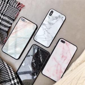 大理石柄iPhone 11ケース iPhone11 Pro iPhone 11 Pro Max iPhone XR iPhoneX iPhone8 iPhone7用カバー  背面強化ガラス  TPU素材 スマホケース 保護カバー|chokuten-shop