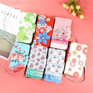 全7種タイプ 花柄iPhone X用手帳型レザーケース/ストラップ付き女性に向け/ポケット付き超便利/手軽スタイリッシュ使いやすい おしゃれメチャ可愛い|chokuten-shop
