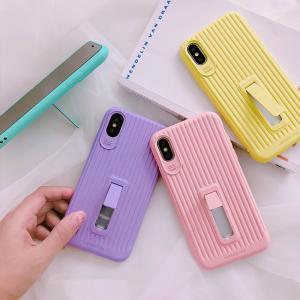 スタンド付き 可愛いキャンディー・カラーTPUケースiPhone X iphoneXS iphoneXR iphoneXS Max用背面カバー 柔らかいスマホ保護ケース おしゃれ 軽量|chokuten-shop