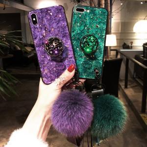 新登場 iPhone XS Max iPhone XR iPhone X/iPhone XS iphone 7plus/8plus iphone 7/8用キラキラケース 超綺麗カバー ボンボンストラップ付きスマホケース|chokuten-shop