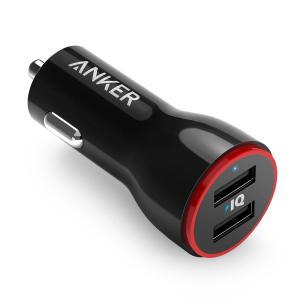 Anker PowerDrive 2 (24W/4.8A 2ポート USBカーチャージャー) iPh...