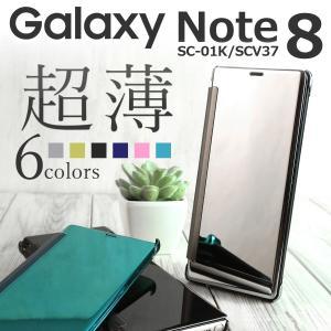 商品名称  GalaxyNote8 SC-01K/SCV37 半透明手帳型ケース  適応機種  Ga...