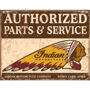 ブリキ看板 Indian Authorized P & S 1930 ティンサインプレート ティンサインボード アメリカ雑貨 アメリカン雑貨|choppers